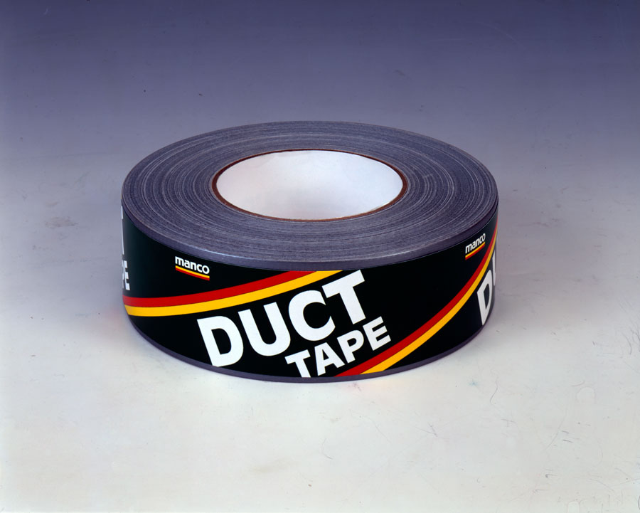 duct-tape-roll-on-grey-background