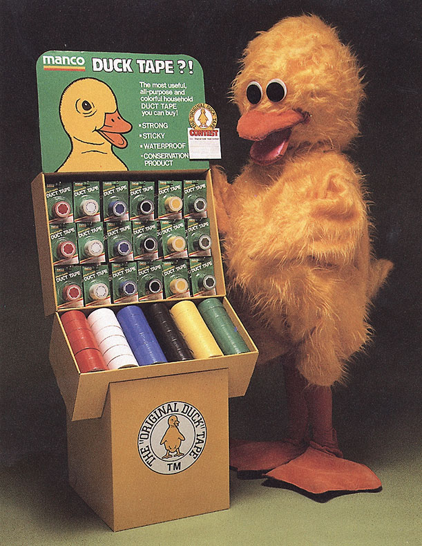 old-duck-brand-tape-mascot-with-display