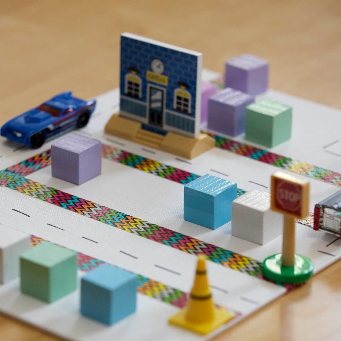 Make a kids' neighborhood with Duck Tape