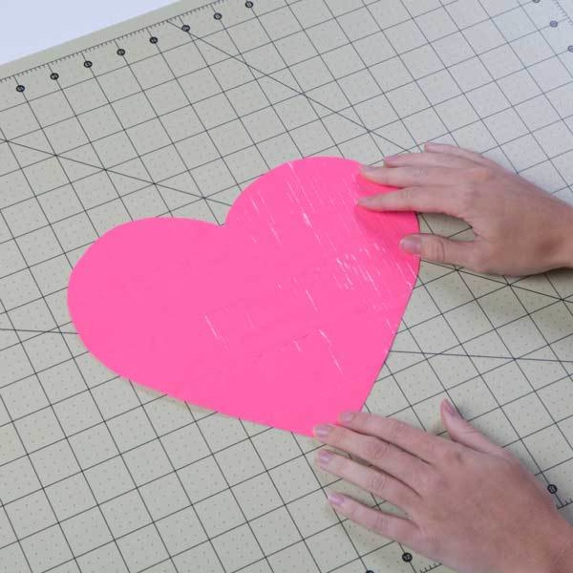 heart traced in the previous step cut out