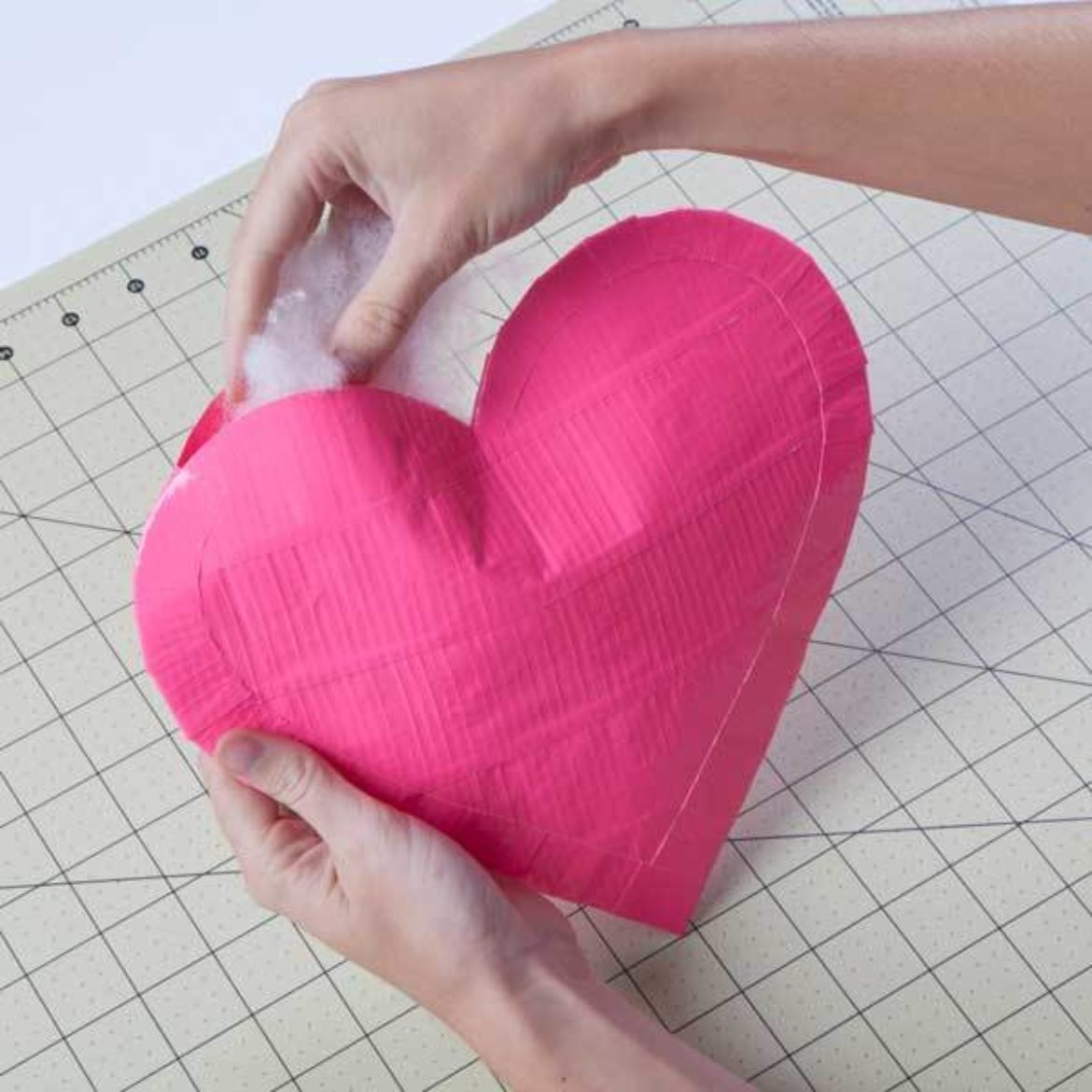 heart stuffed with filler material