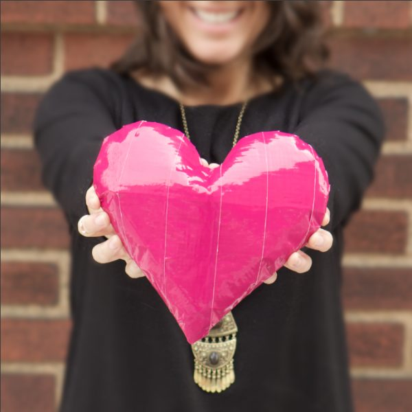 Completed Duck Tape® 3D Heart
