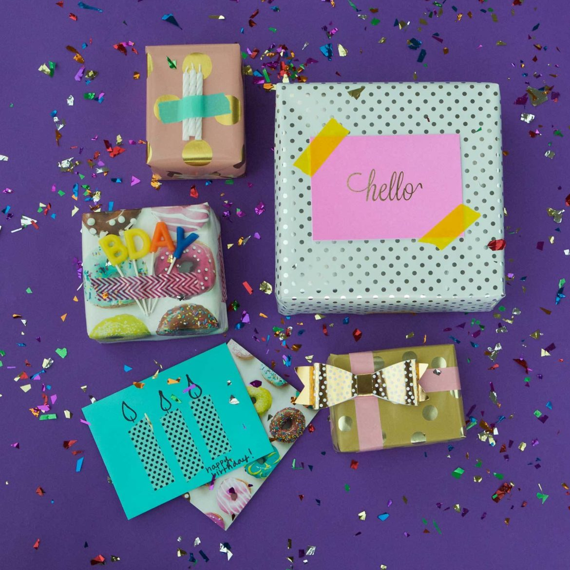 5 Last Minute Gift Wrapping Ideas with Washi Tape