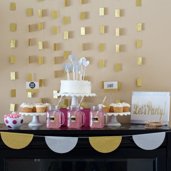 5 Ways To Add Glitter To Your Party With Duck Tape