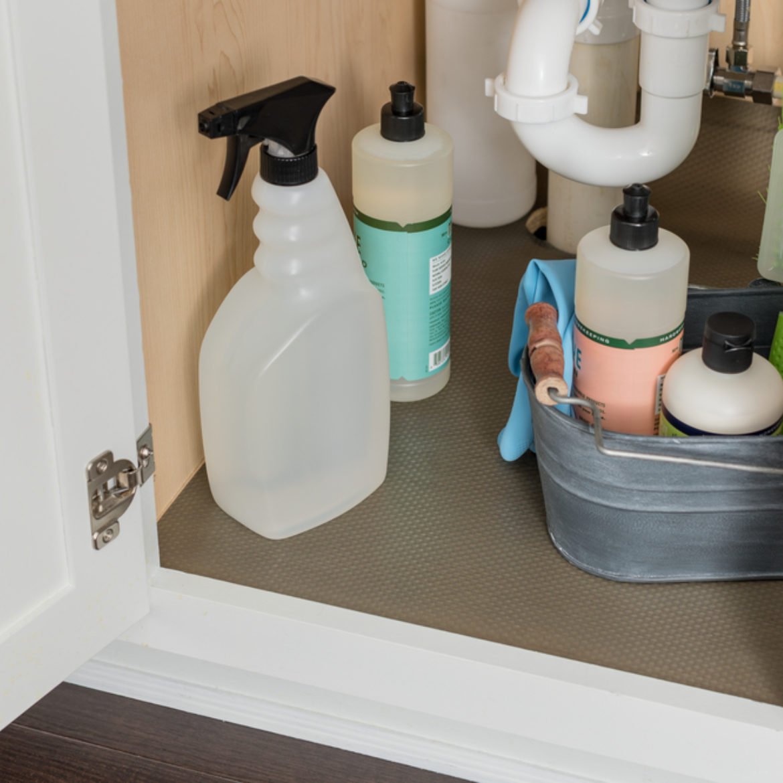 Under sink clutter