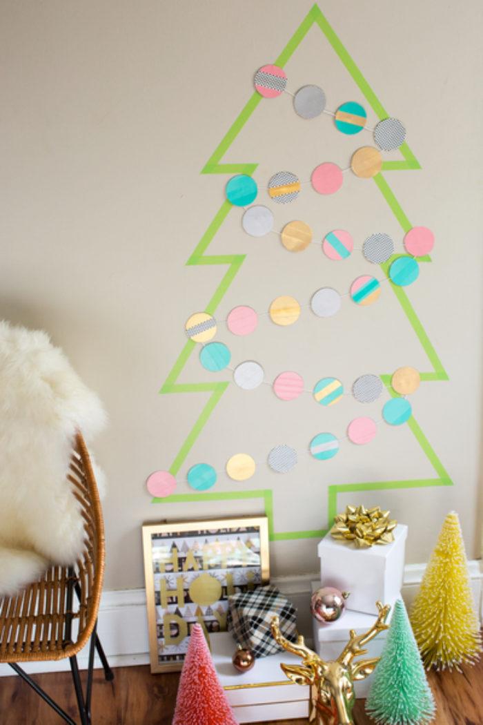 Holiday Hacks Washi Tree