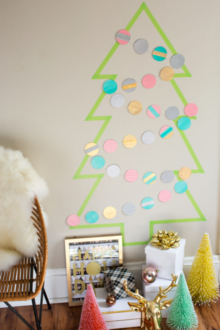 Duck Tape Christmas Tree on a wall