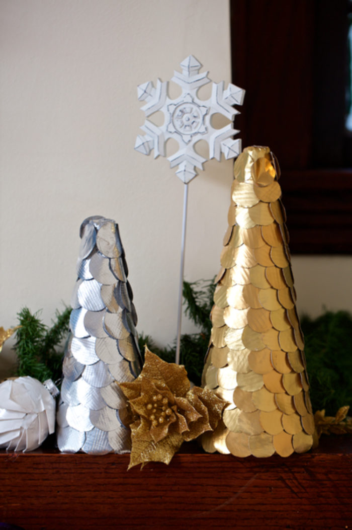Duck Tape Christmas trees