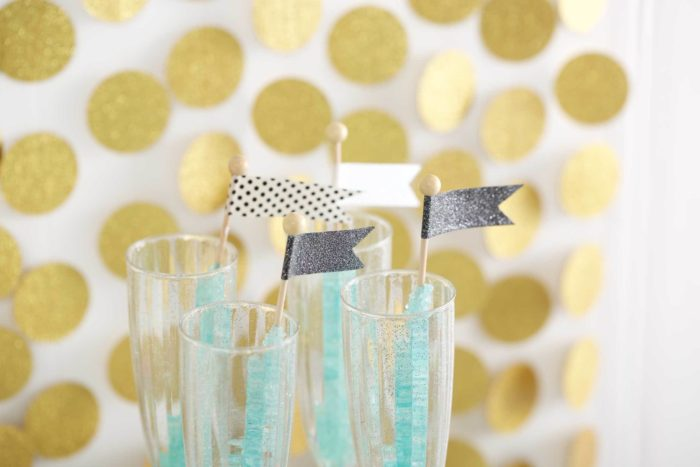 Candy decorations made with washi tape.