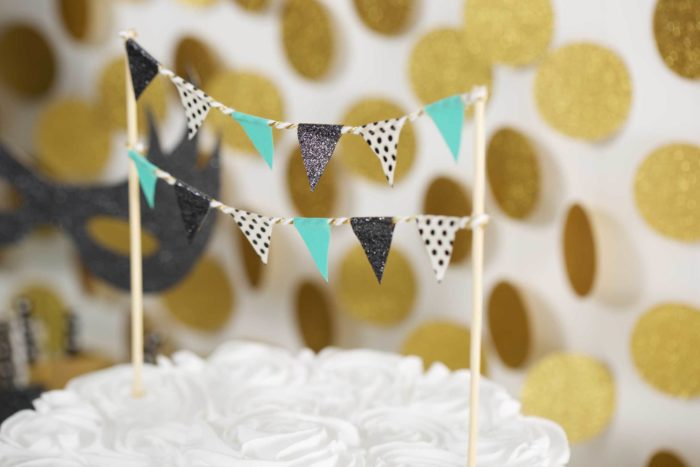 Flag cake toppers.