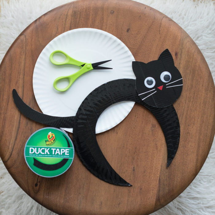 Black Cat Paper Plate Craft Project
