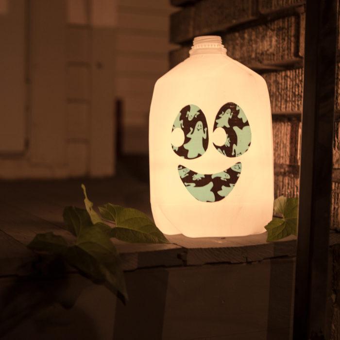 milk jug lanterns