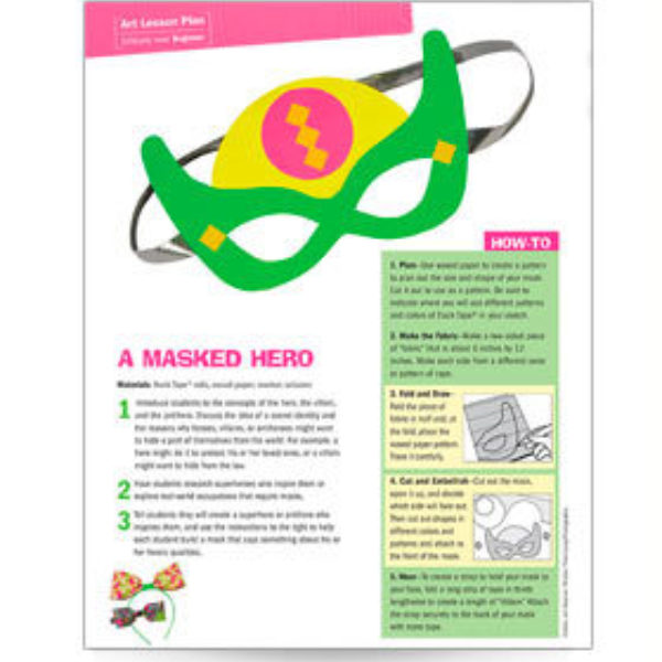 A Masked Hero Lesson Plan