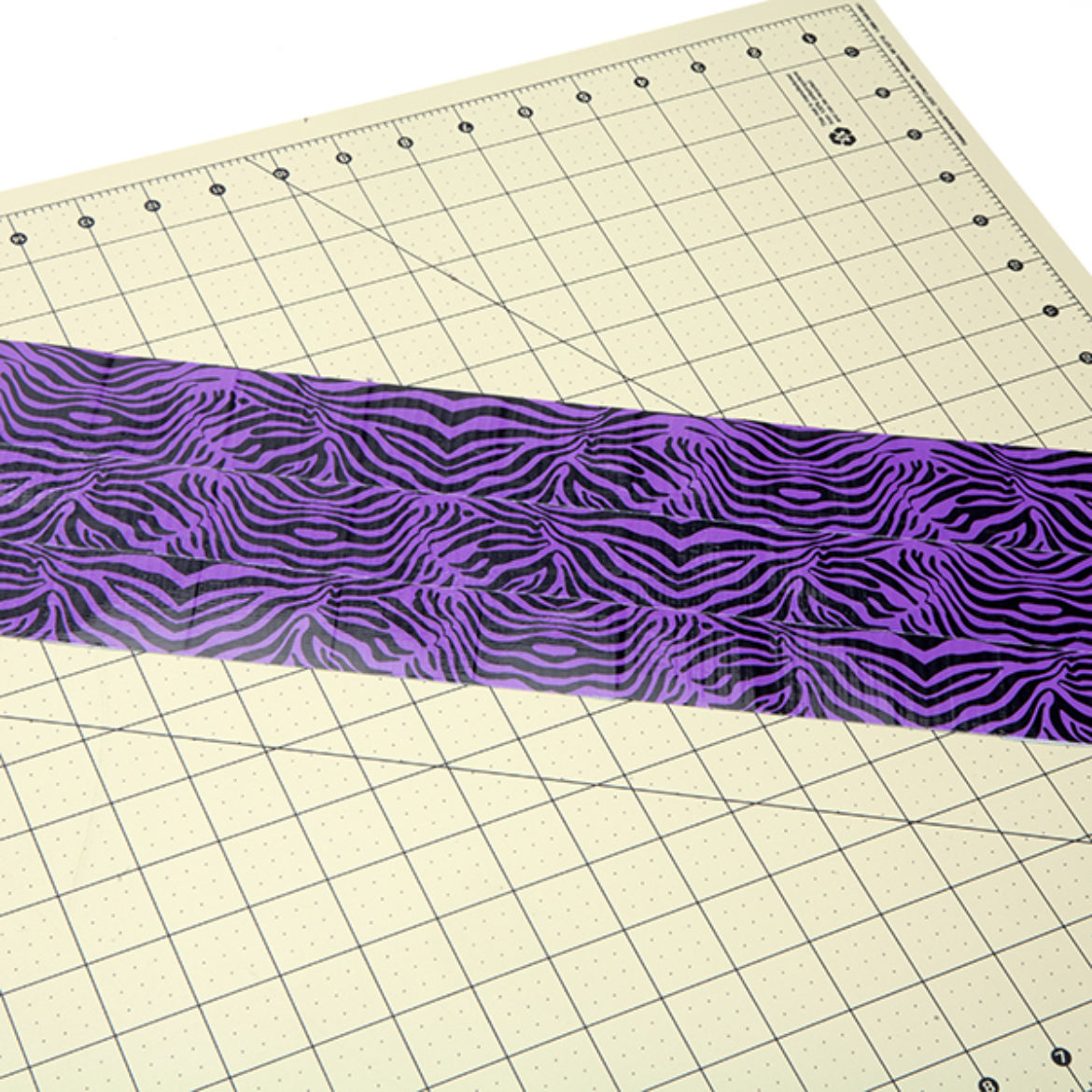 one medium piece of Duck Tape fabric made from animal print Duck Tape