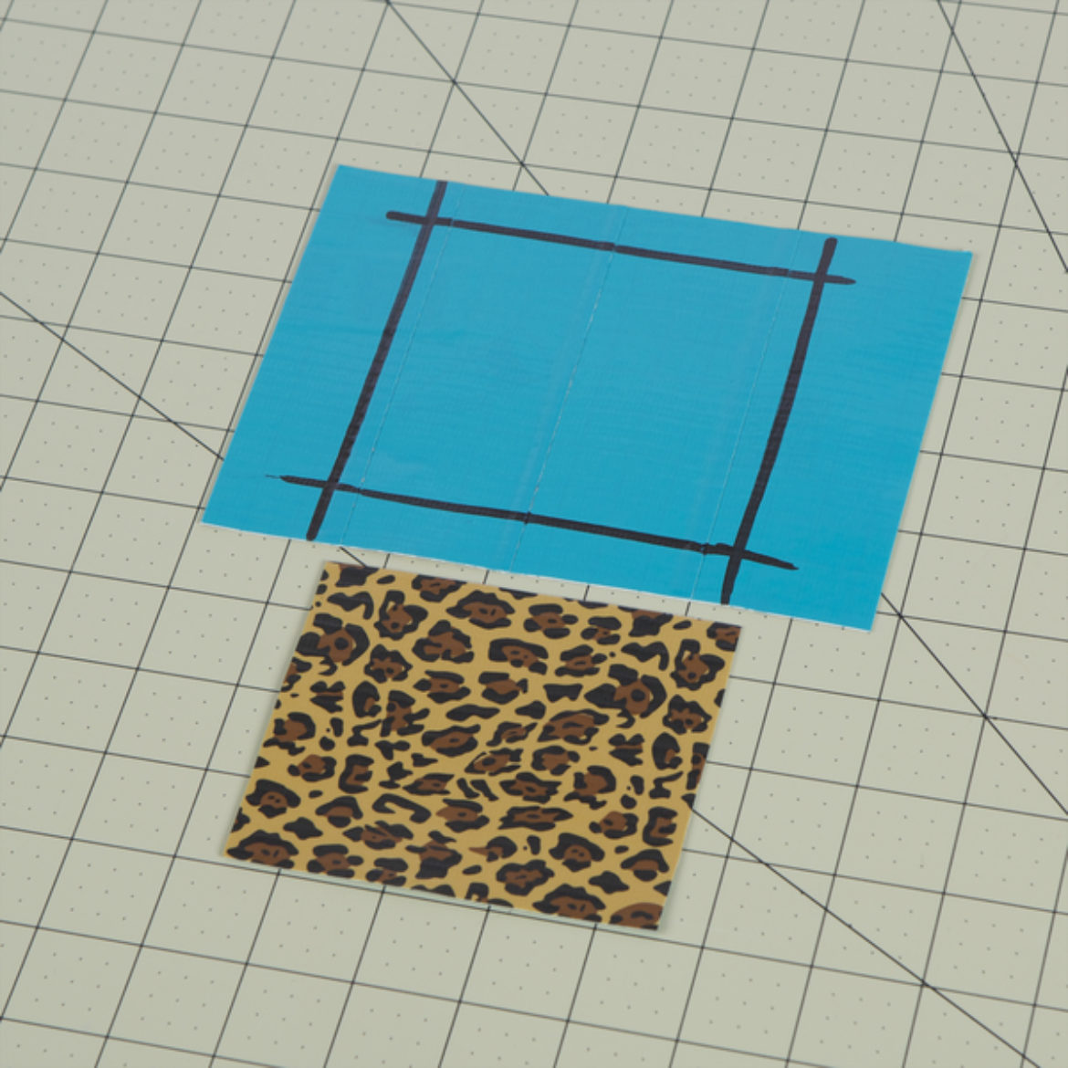 Piece of Duck Tape fabric cut into a square