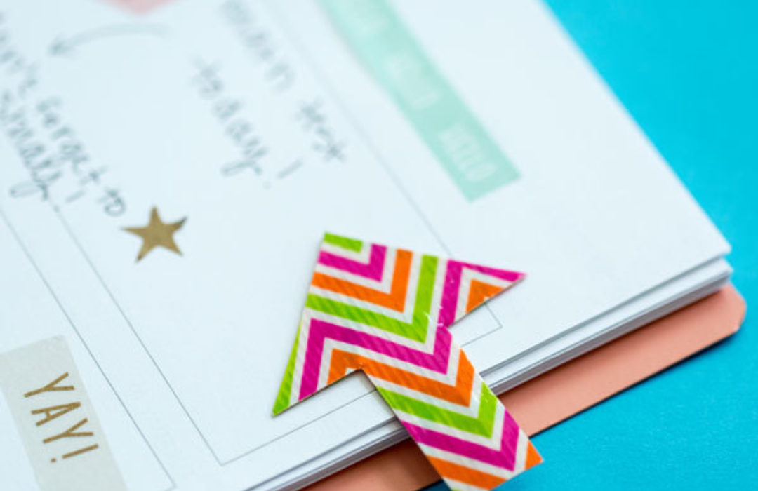 Completed Duck Tape® Arrow Bookmark