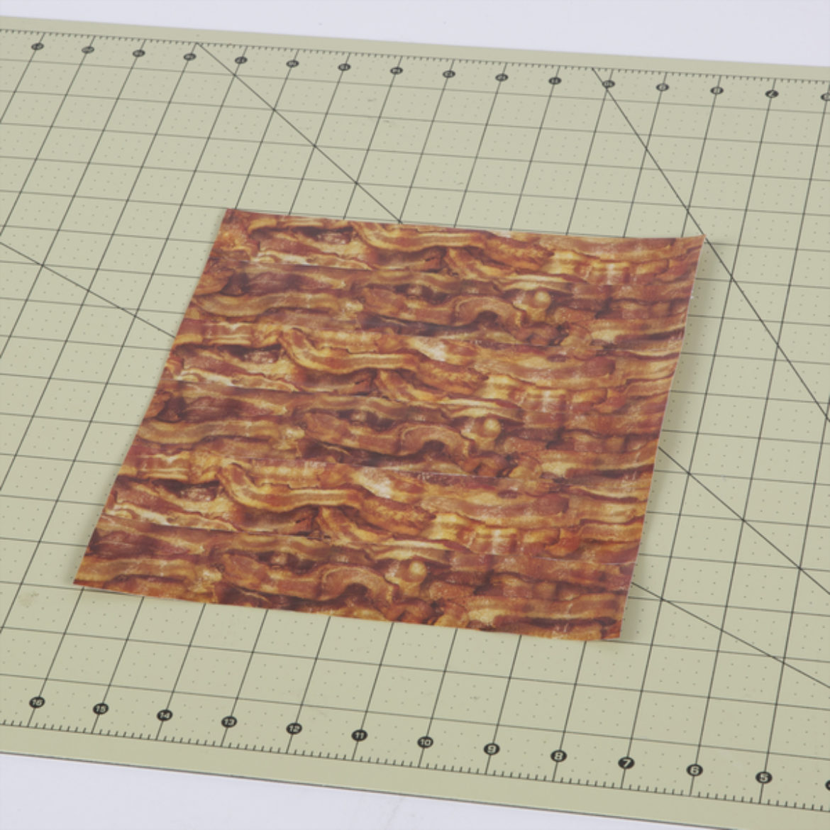 Fabric made from bacon pattern Duck Tape