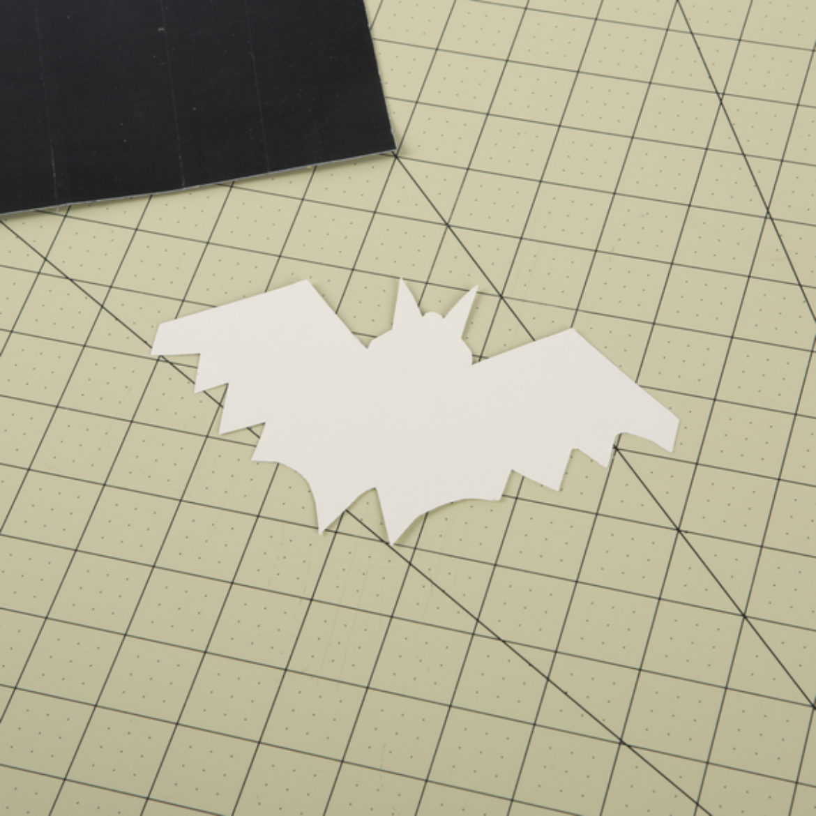 Bat template cut out of card stock