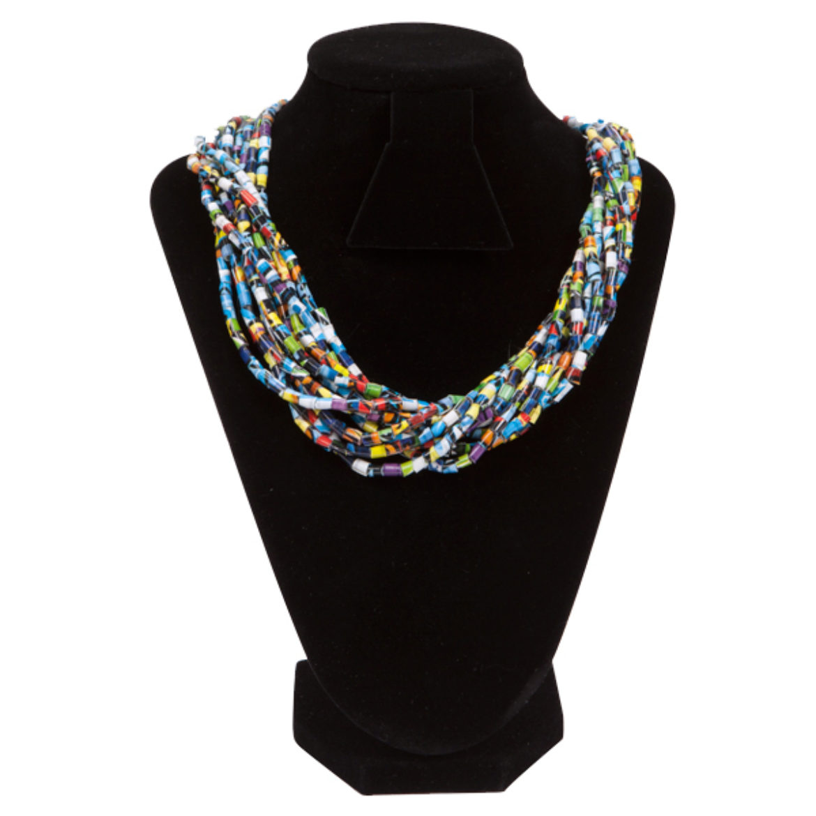 Completed Duck Tape® Beaded Necklace