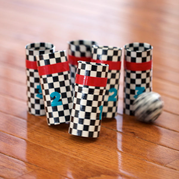 Duck Tape bowling game in use