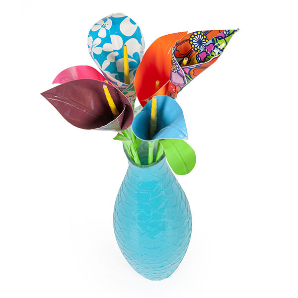 Completed Duck Tape® Calla Lily in a vase