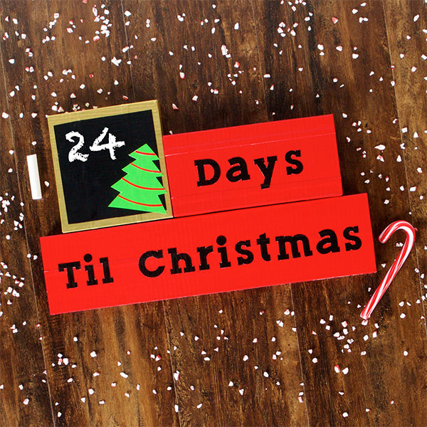Completed Chalkboard Holiday Countdown