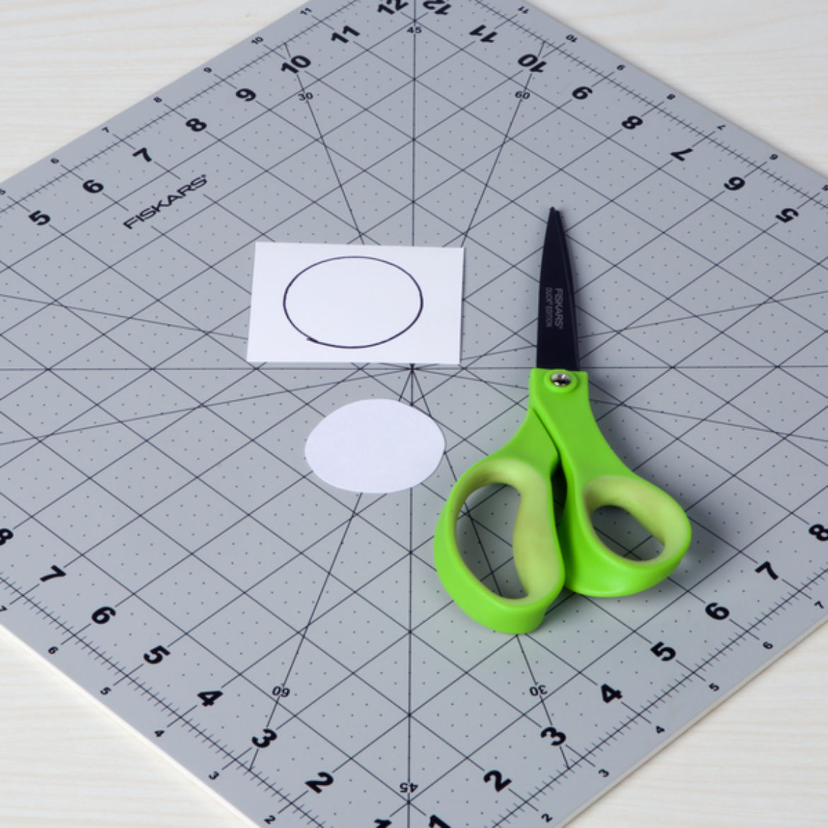 Circle drawn onto and cut out of cardstock