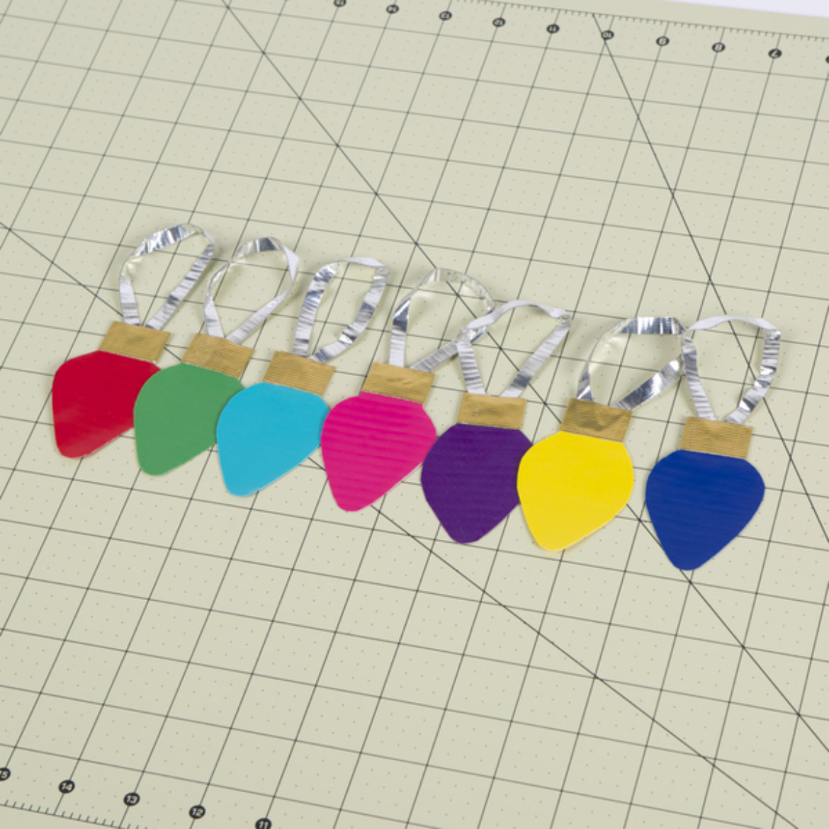 Steps 1-5 repeated to created with various colors to create a colorful array