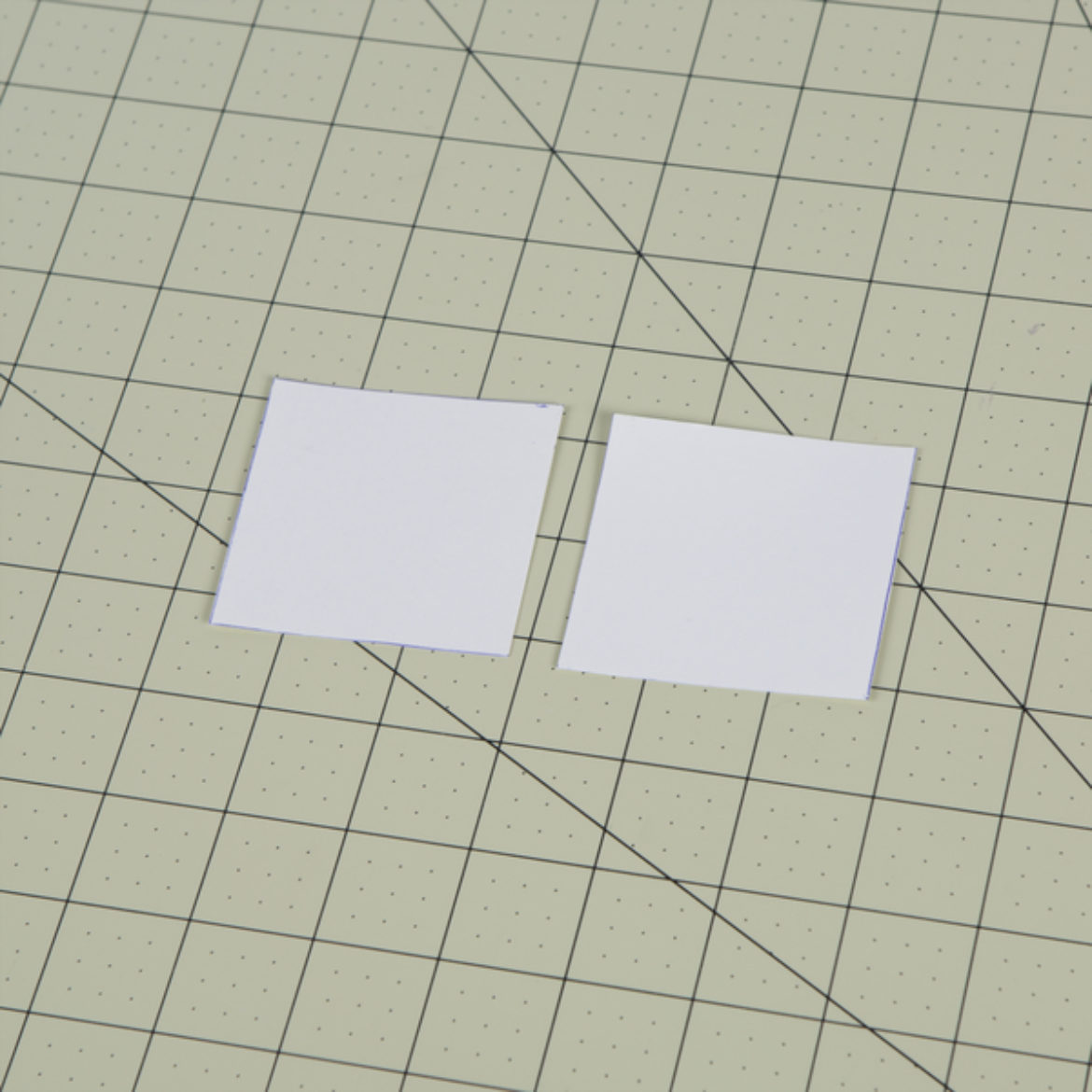 Two squares of cardstock cut out