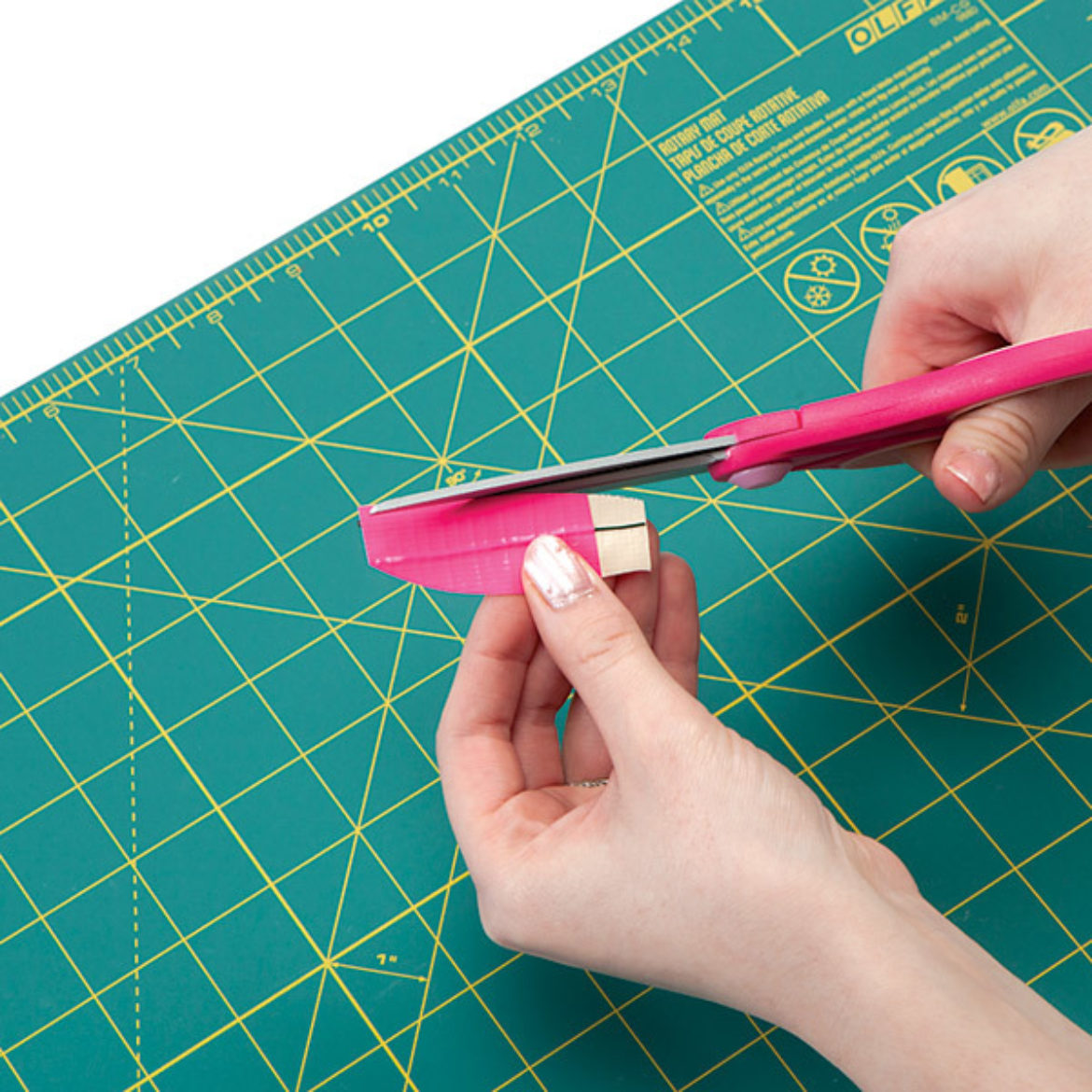 Trim the piece from the previous step into a daisy petal shape