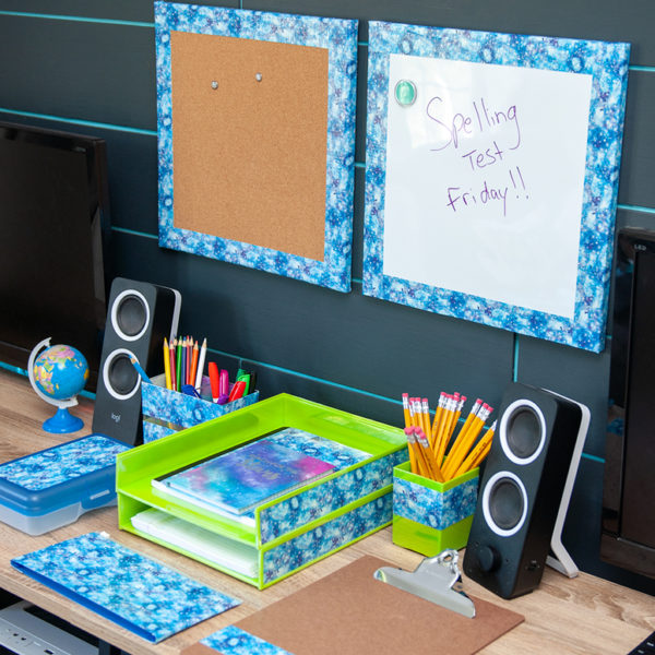 Back to school homework space for kids with Duck Tape, by Crafts By Courtney.