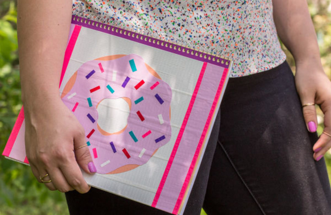 Completed Duck Tape® Donut Notebook