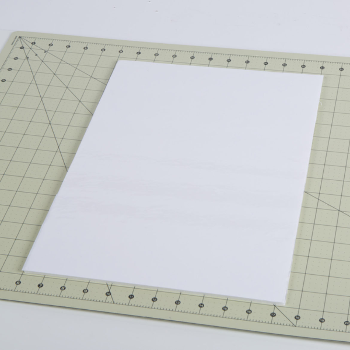 Foam core board cut to size. Front of board covered in Dry Erase Liner