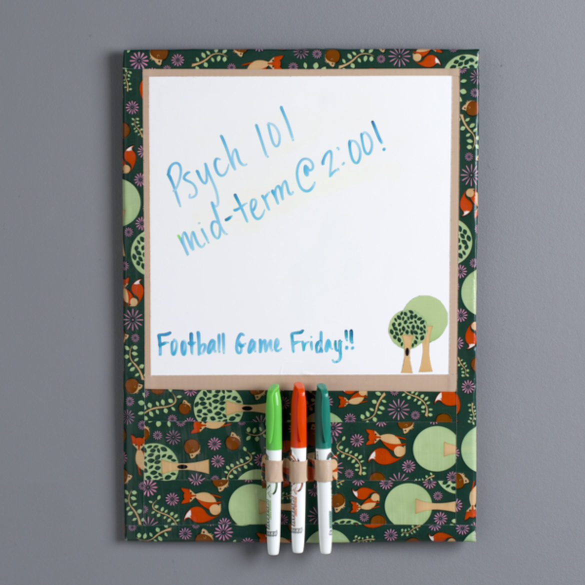 Completed Duck Tape® Dry Erase Board