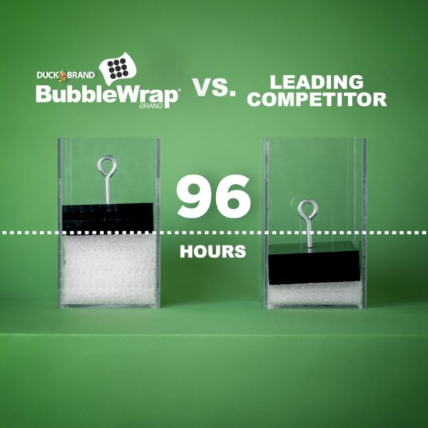 Duck Brand Bubble Wrap Air Loss Test