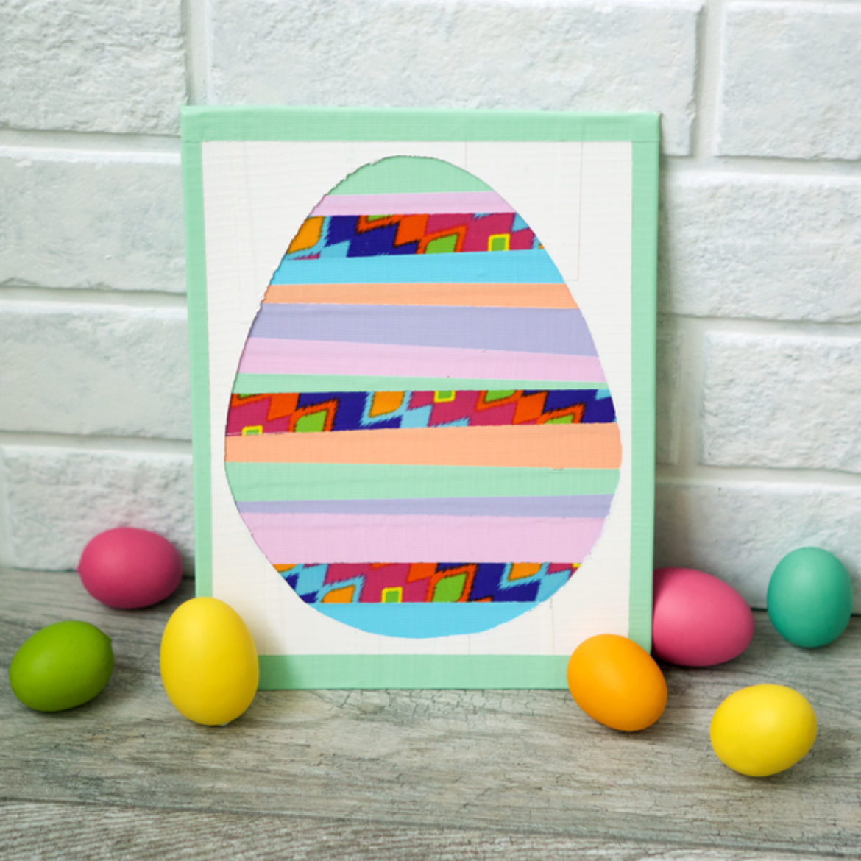 Completed Easter Striped Egg decoration