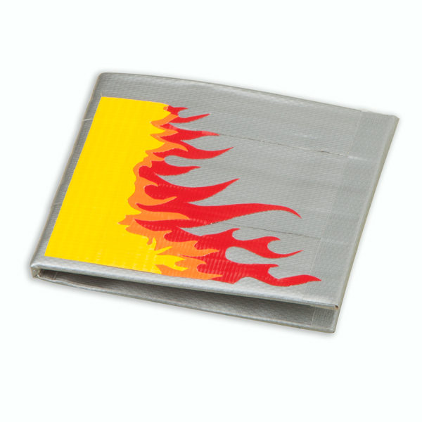 Completed Duck Tape® Flame Wallet
