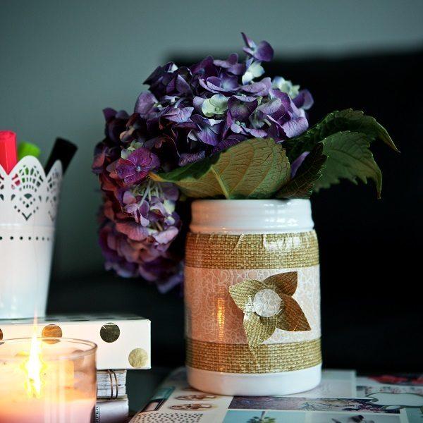 Completed Duck Tape® Flower Vase