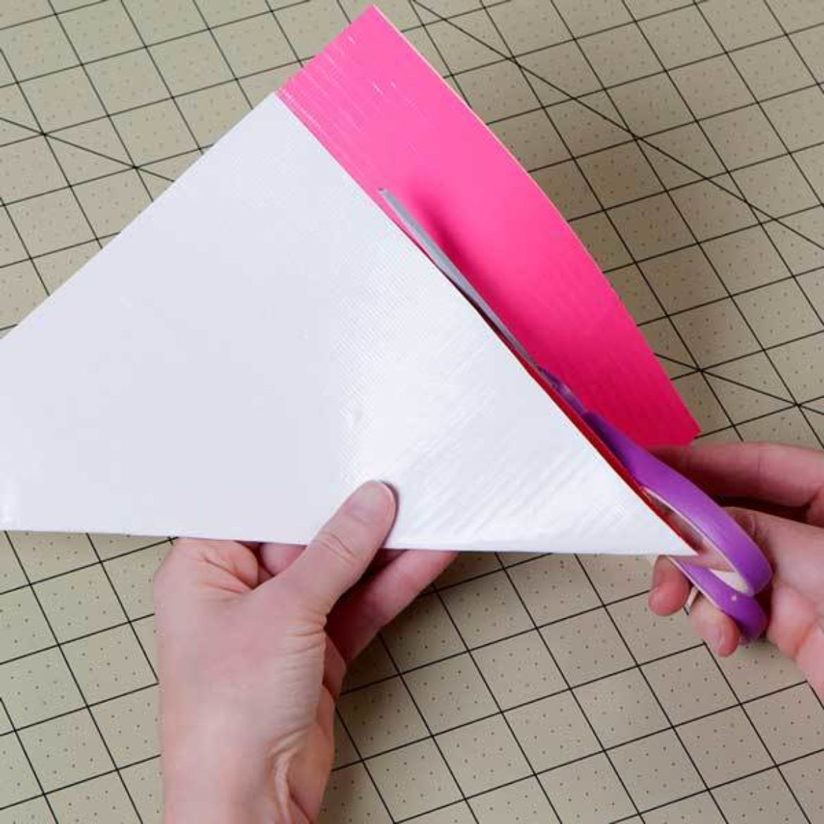 single layered rectangle from previous step cut off so that it forms a square sheet of fabric