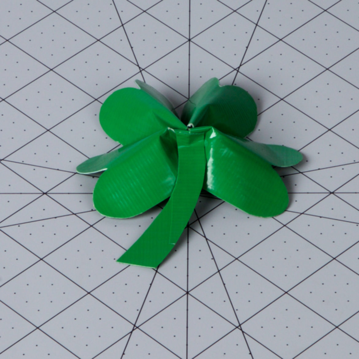 Stem added to the center of the back of the clover to serve as the stem