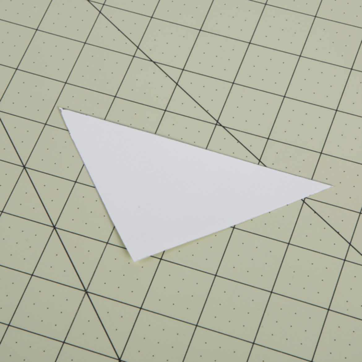 triangle cut out of cardstock