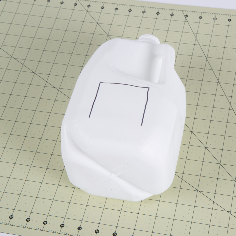 Milk Jug Lantern Step 1