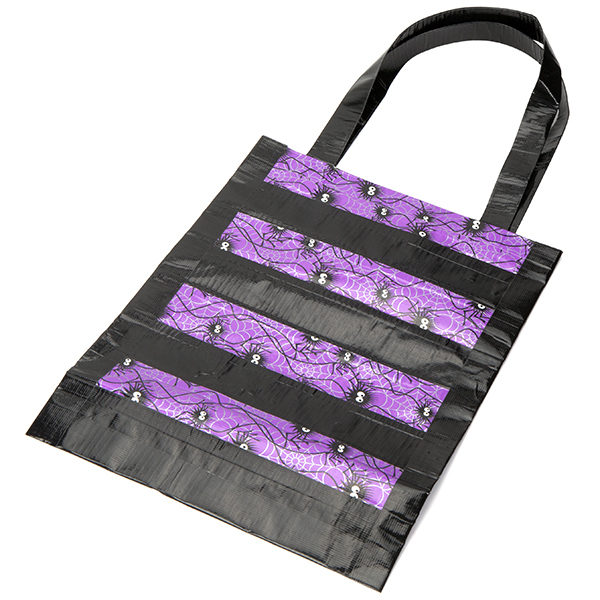 Completed Duck Tape® Halloween Tote