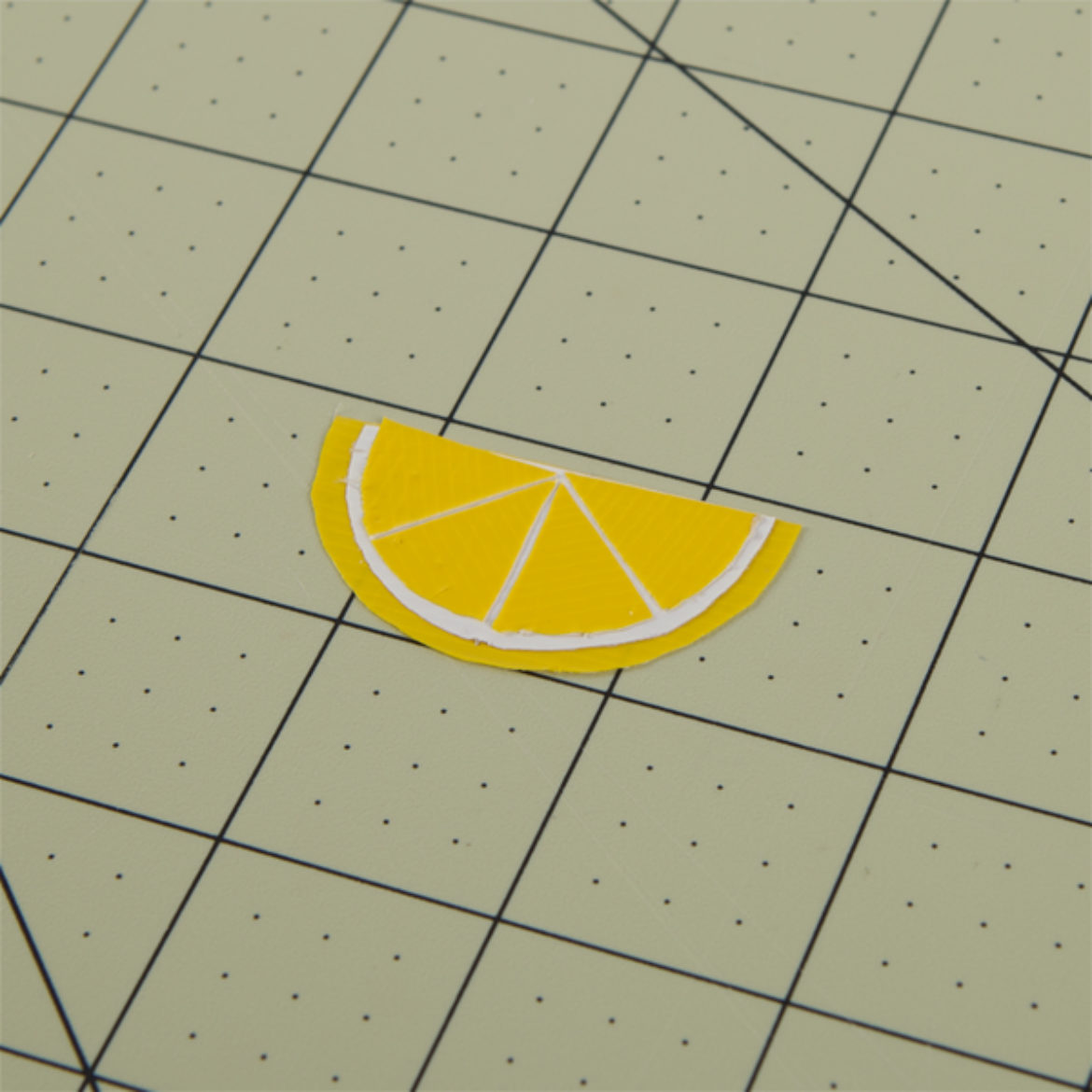 Steps 5-6 repeated until there are 4 equal segments in your lemon wedge