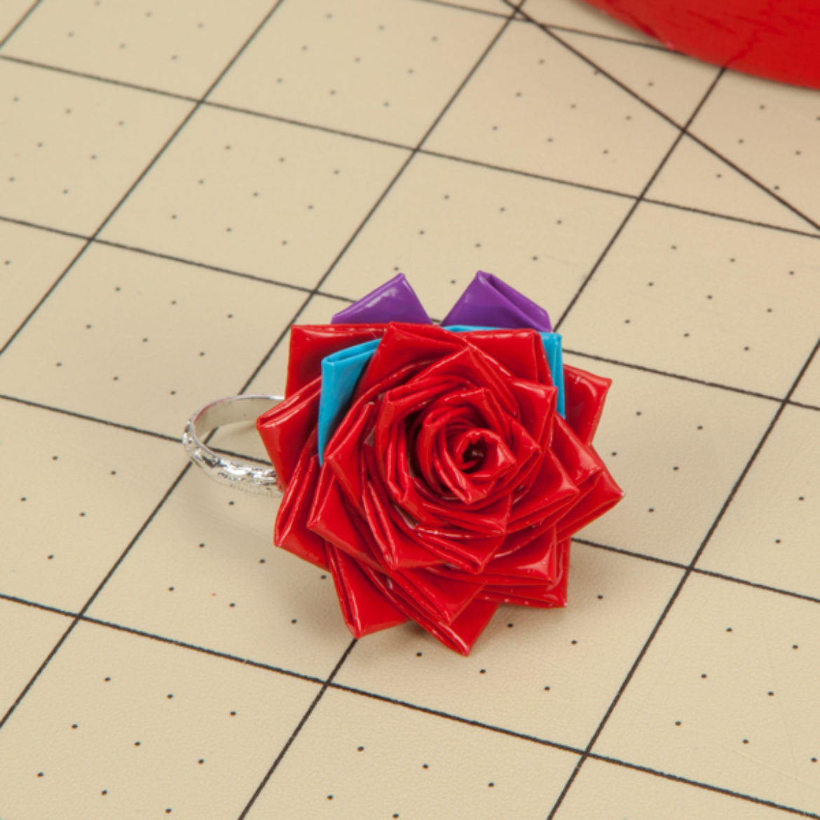 petals placed as described so that the rose forms the shape of a heart