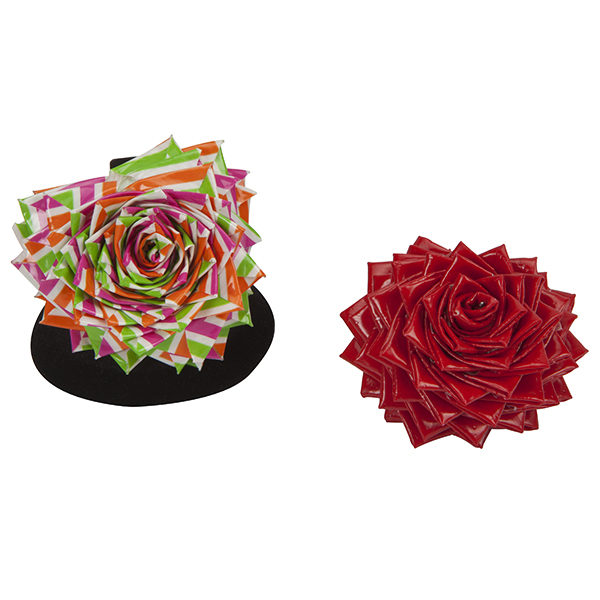 Completed Duck Tape® Heart Rose Ring