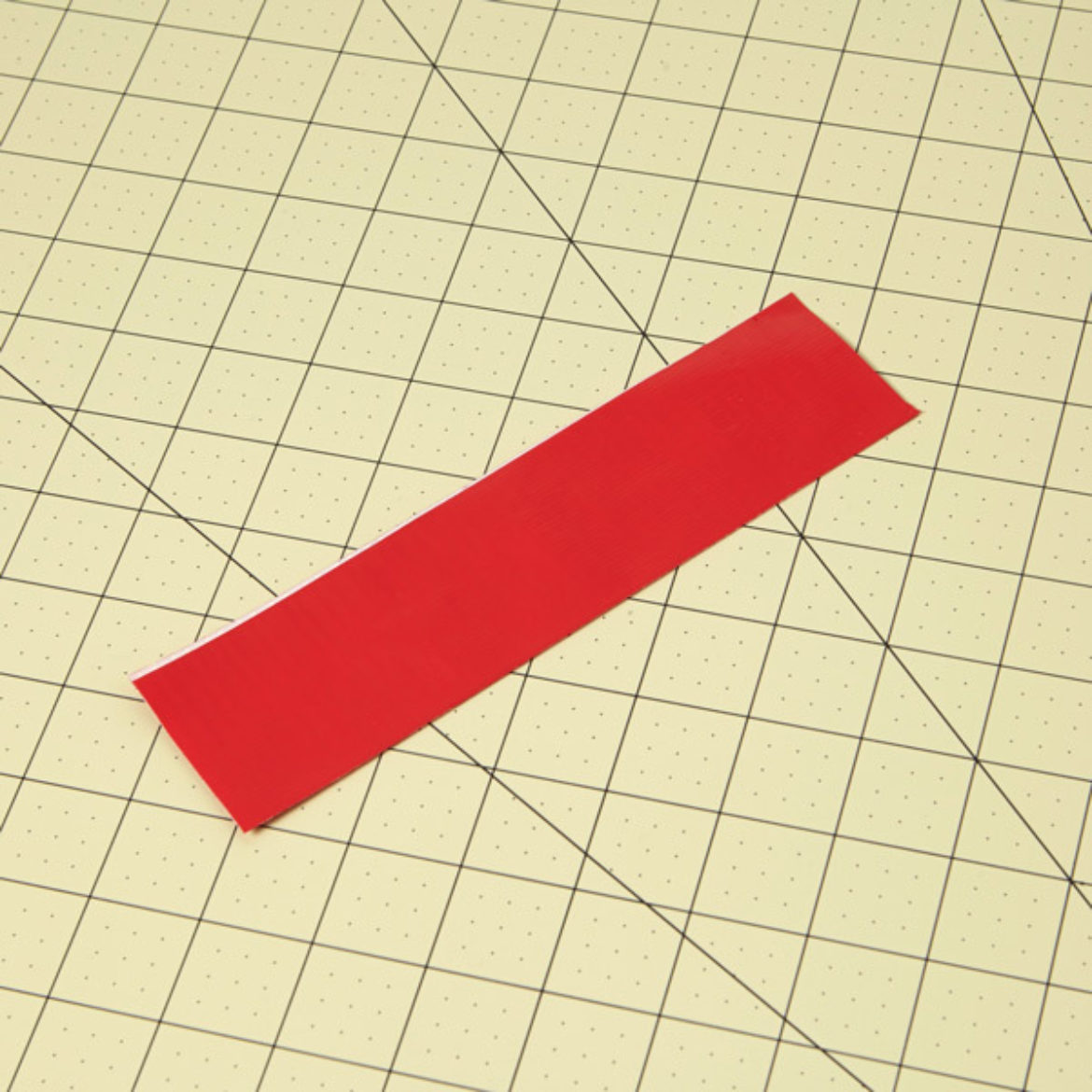 Strip of red Duck Tape