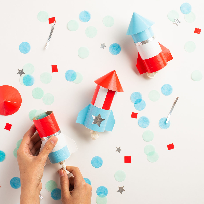 DIY Duck Tape Confetti Rockets