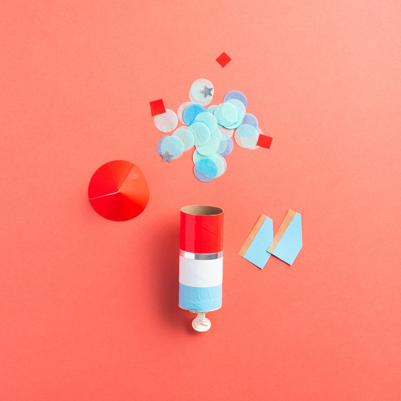 DIY Duck Tape Confetti Rockets - Step 10