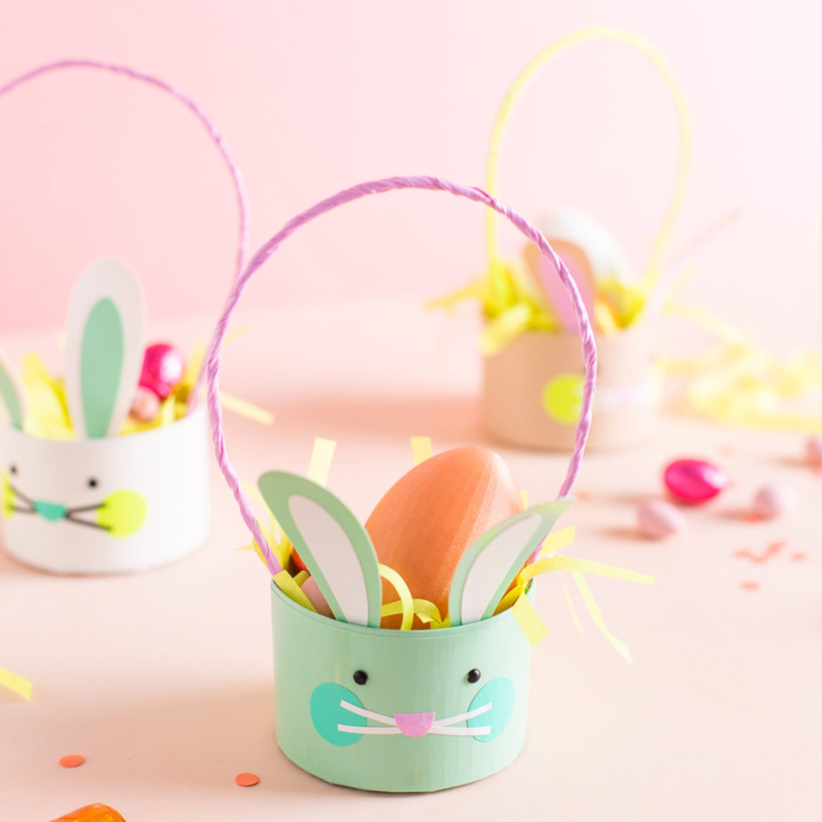 Oh Happy Day Duck Tape Easter Bunny Baskets